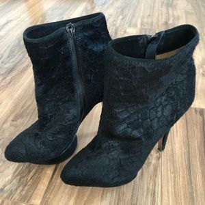 🦊L.A.M.B Leather and Calf Hair Booties